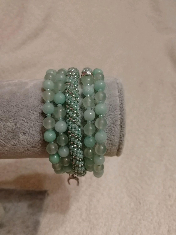 Bracelet mint, Bead bracelet, Moscow,  Фото №1