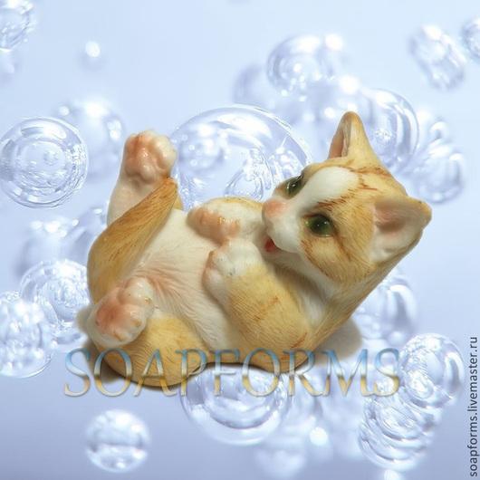 Силиконовая форма для мыла `Котенок 2`