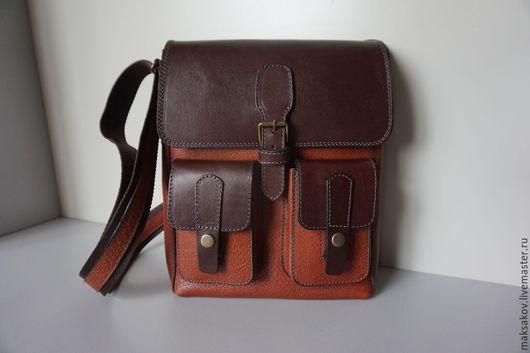 Мужские сумки ручной работы. Ярмарка Мастеров - ручная работа. Купить Балтийская сумка под А4 из толстой кожи. Handmade.