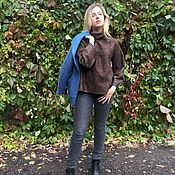 Одежда ручной работы. Ярмарка Мастеров - ручная работа Валяный свитер Корица. Handmade.