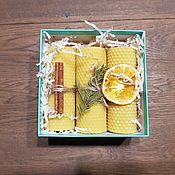 Свечи ручной работы. Ярмарка Мастеров - ручная работа Свечи: Свечи из натуральной вощины. Handmade.