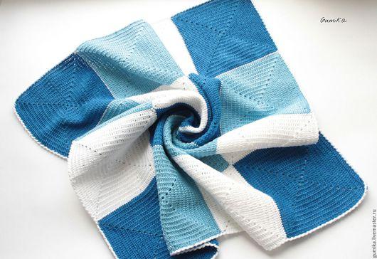 Текстиль, ковры ручной работы. Ярмарка Мастеров - ручная работа. Купить Плед детский хлопковый