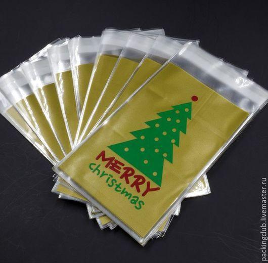 Упаковка ручной работы. Ярмарка Мастеров - ручная работа. Купить Новогодние пакетики с клеевым краем. Handmade. Зеленый, упаковка