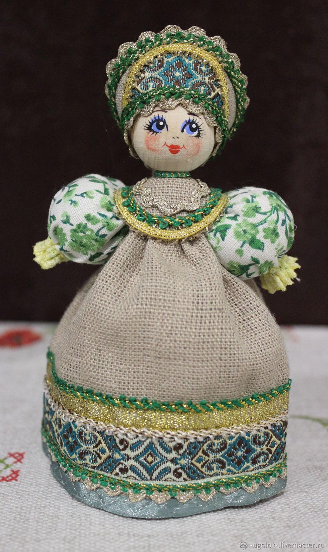 Деревянная кукла в русском стиле, Народная кукла, Ярославль,  Фото №1