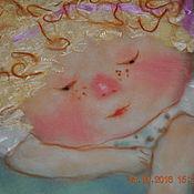 """Картины и панно ручной работы. Ярмарка Мастеров - ручная работа Шерстяная акварель """"Рябиновое счастье"""". Handmade."""