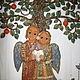 Символизм ручной работы. Ярмарка Мастеров - ручная работа. Купить Панно для влюблённых-2. Handmade. Древо жизни, деревянная основа