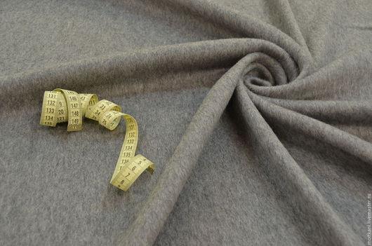 Шитье ручной работы. Ярмарка Мастеров - ручная работа. Купить Ткань пальтовая с ворсом Италия. Handmade. Серый, ткань на пальто