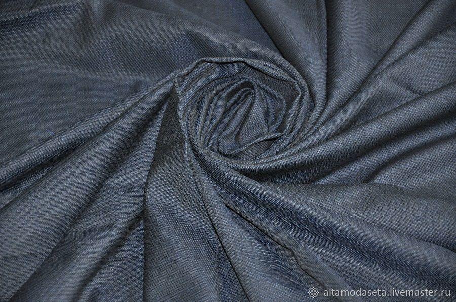 Шерсть костюмная темно-синяя из Италии, Ткани, Москва,  Фото №1