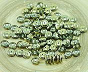 Материалы для творчества ручной работы. Ярмарка Мастеров - ручная работа 60шт Кристалл металлическое золото половина чешское стекло бисер диска. Handmade.