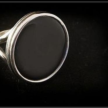 Украшения ручной работы. Ярмарка Мастеров - ручная работа кольцо Черный агат.. Handmade.