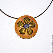 Украшения handmade. Livemaster - original item Wooden pendant Aromacean of natural wood (Irga). Handmade.