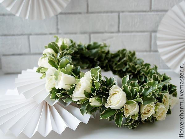 Нежный белый веночек невесты - 1800рублей