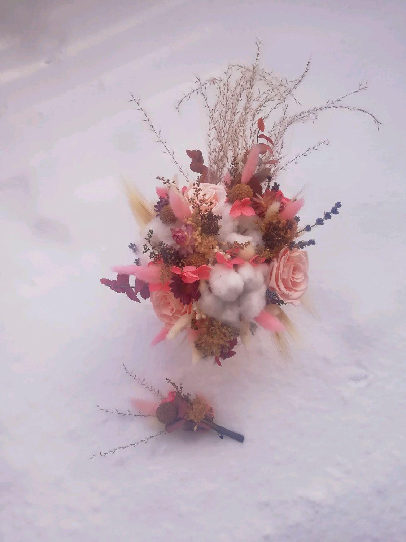 Композиции из сухоцветов и стабилизированых цветов, Цветы, Иркутск,  Фото №1