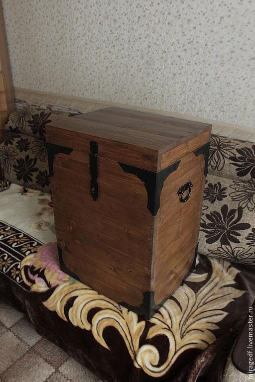 Мебель ручной работы. Ярмарка Мастеров - ручная работа. Купить Сундук-короб. Handmade. Коричневый, для дачи, подарок, купить короб