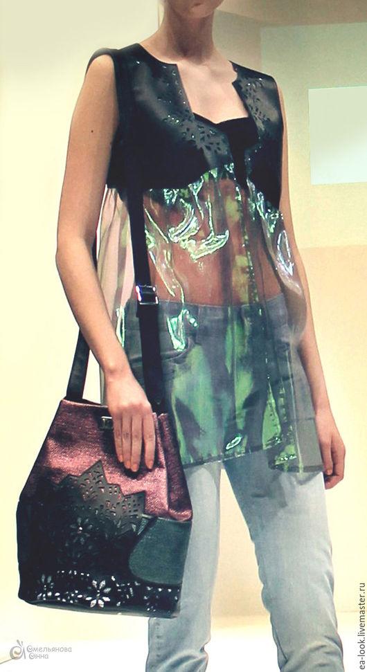 Женские сумки ручной работы. Ярмарка Мастеров - ручная работа. Купить Сумка с кружевом (иск.кожа) в волшебной цветовой гамме. Handmade.