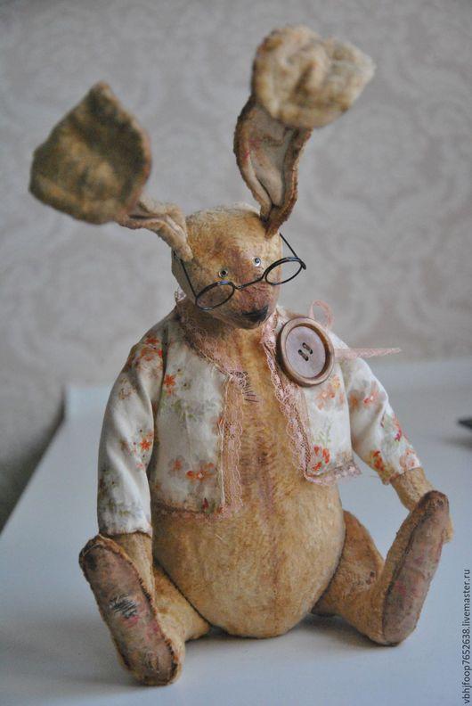 Мишки Тедди ручной работы. Ярмарка Мастеров - ручная работа. Купить МАРИО. Handmade. Желтый, винтажный заяц, уши на проволоке