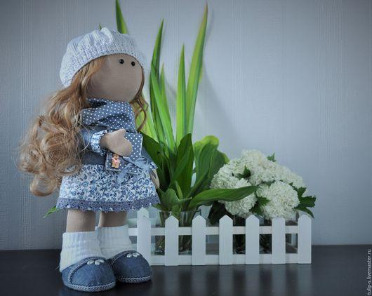 """Человечки ручной работы. Ярмарка Мастеров - ручная работа. Купить Интерьерная кукла """"Белые ночи"""". Handmade. Голубой, романтика"""