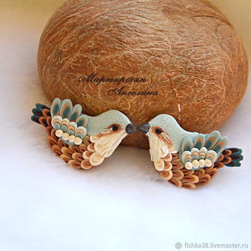 Птички  невелички. Брошь, Броши, Иркутск, Фото №1