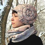 Аксессуары handmade. Livemaster - original item Hat and Snood