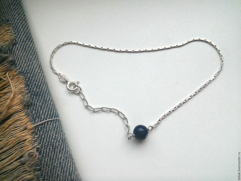 Браслет на щиколотку серебро