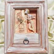 """Для дома и интерьера ручной работы. Ярмарка Мастеров - ручная работа Часы """"Секрет"""". Handmade."""