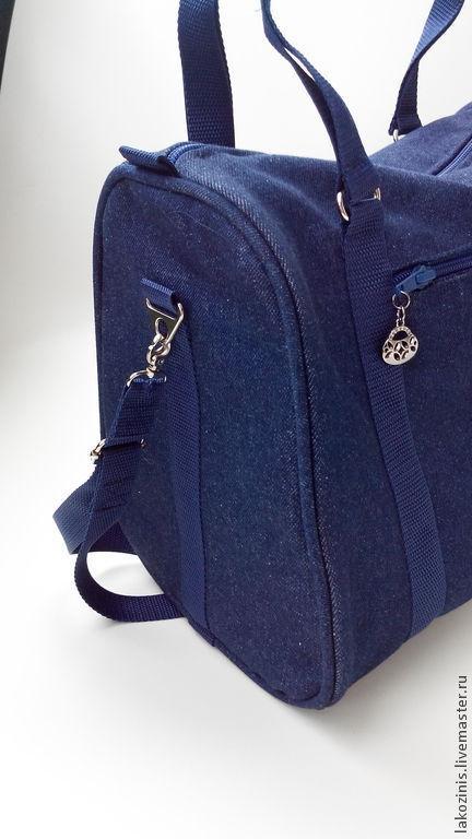 """Женские сумки ручной работы. Ярмарка Мастеров - ручная работа. Купить Джинсовая сумка """" Хоть куда"""". Handmade. синий"""