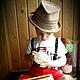 """Шапки и шарфы ручной работы. Шляпа """"Соломенная"""" для мальчика. ЮЛИЯ ВЯЗАНКА (Yuliya Vyazanka). Ярмарка Мастеров. Шляпа летняя"""