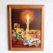 Винтаж handmade. Livemaster - original item Vintage: Vintage pattern (hand embroidery), 100% wool. Germany. Handmade.