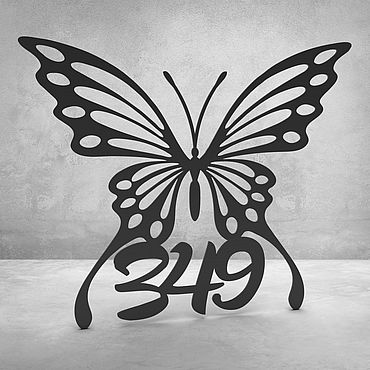 """Для дома и интерьера ручной работы. Ярмарка Мастеров - ручная работа Номерок на дверь """"Butterfly"""". Handmade."""