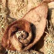 Украшения ручной работы. Ярмарка Мастеров - ручная работа брошь из шерсти ЗАкбе. Handmade.
