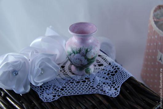 """Вазы ручной работы. Ярмарка Мастеров - ручная работа. Купить Вазочка """"Винтаж"""". Handmade. Бледно-розовый, ваза для интерьера"""