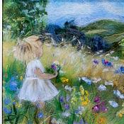 Картины и панно ручной работы. Ярмарка Мастеров - ручная работа Середина лета солнышком согрета. Handmade.