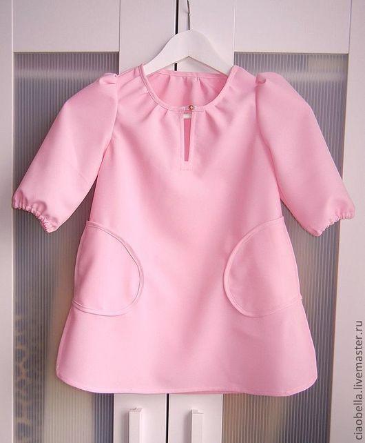 """Одежда для девочек, ручной работы. Ярмарка Мастеров - ручная работа. Купить Платье для девочки """"Bambina"""". Handmade. Розовый, платье с карманами"""