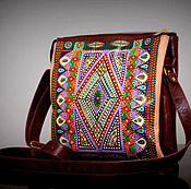Сумки и аксессуары handmade. Livemaster - original item Woman leather painting brown bag. Handmade.