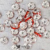 Материалы для творчества ручной работы. Ярмарка Мастеров - ручная работа 30шт. Чехия 4 мм. Рондель Rondelle Разделитель бусин (fr-0911). Handmade.