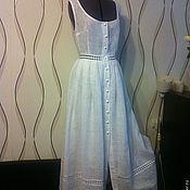Одежда ручной работы. Ярмарка Мастеров - ручная работа Льняное платье-сарафан (1). Handmade.