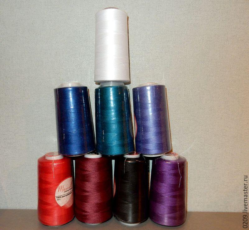 Одежда для кукол ручной работы. Ярмарка Мастеров - ручная работа. Купить нитки 5000м. Handmade. Разноцветный, нитка, нитки для шитья