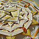 Часы для дома ручной работы. Настенные часы авторские мандала «Золотое сияние Будды» Звезда желтый. Анна Зимородок Миниатюра & Мандалы (annazimorodok). Интернет-магазин Ярмарка Мастеров.