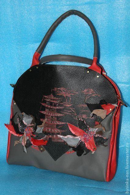 Женские сумки ручной работы. Ярмарка Мастеров - ручная работа. Купить кожаная сумка в китайском стиле)). Handmade. Цветочный