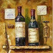 Картины и панно handmade. Livemaster - original item Oil painting vintage wines. Handmade.