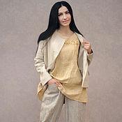 handmade. Livemaster - original item Linen pant set