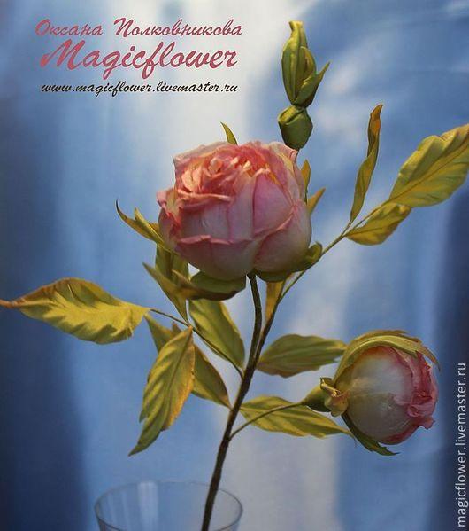 Интерьерные композиции ручной работы. Ярмарка Мастеров - ручная работа. Купить Интерьерная ветка Розы. Цветы из ткани. Цветы из шелка. Handmade.