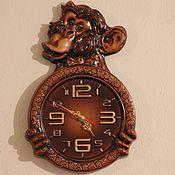 Для дома и интерьера handmade. Livemaster - original item Monkey  wall clock.. Handmade.