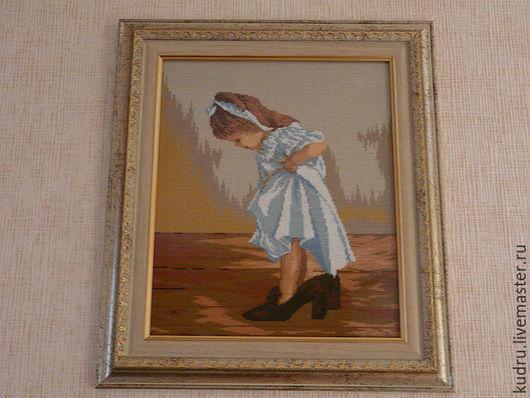 Люди, ручной работы. Ярмарка Мастеров - ручная работа. Купить Картина Девочка в туфлях. Handmade. Девочка, туфли, девочка в платье