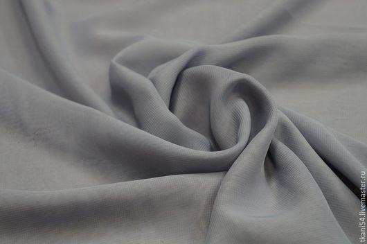 Шитье ручной работы. Ярмарка Мастеров - ручная работа. Купить Ткань плат. шифон, 150 см, серый. Handmade. Серый