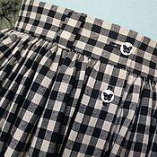 Одежда handmade. Livemaster - original item Skirt in a cage
