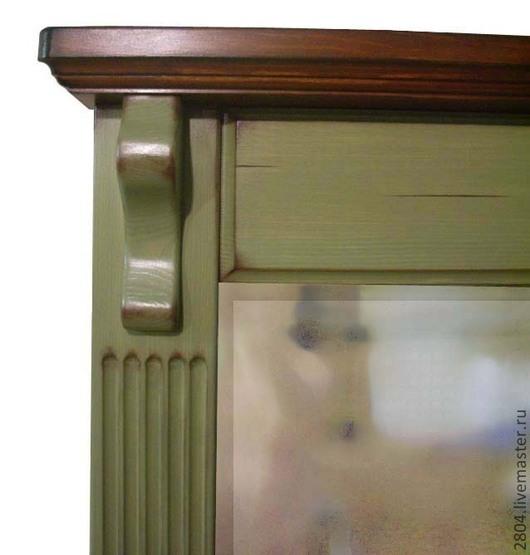Зеркала ручной работы. Ярмарка Мастеров - ручная работа. Купить Зеркало деревянное настенное ручной работы Тоскана кантри прованс. Handmade.