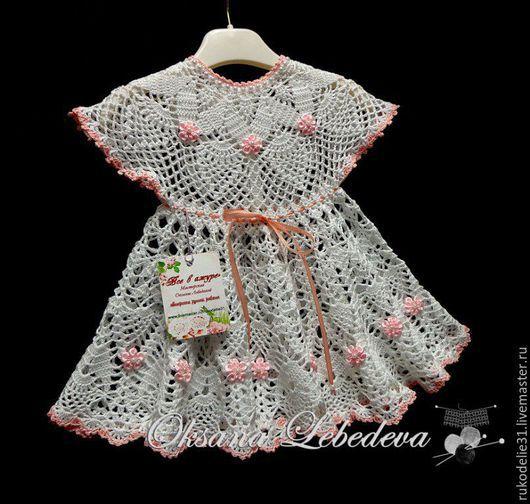 крестильное платье,  платье для крещения, детское белое детское платье, платье ажурное вязаное крючком, купить платья крестильные, комплект для крещения купить, набор крестильный купить. пинетки