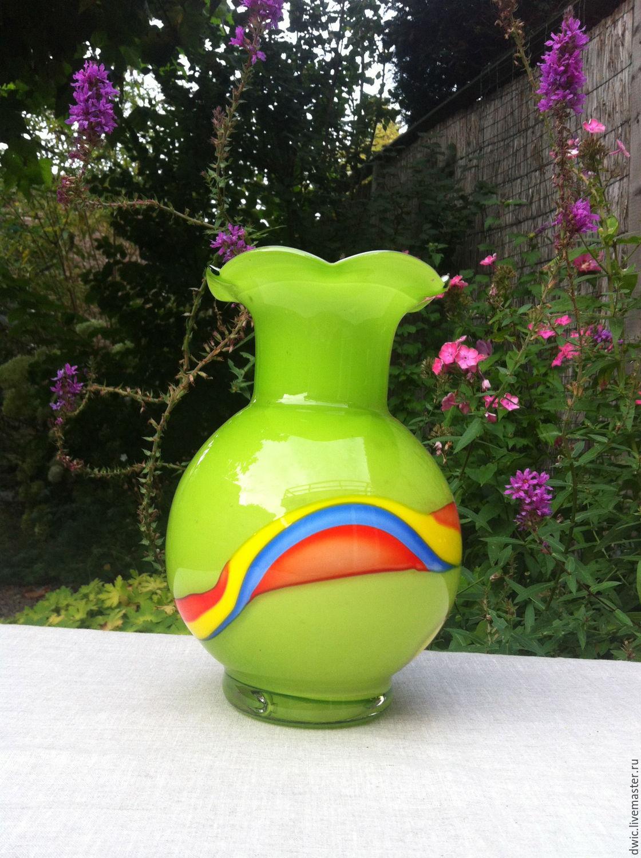 Vase, art glass, Germany, Vintage interior, Arnhem,  Фото №1