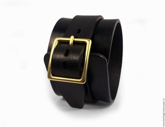 Браслеты ручной работы. Ярмарка Мастеров - ручная работа. Купить Кожаный браслет JD SINGLE - черный. Handmade. Натуральная кожа